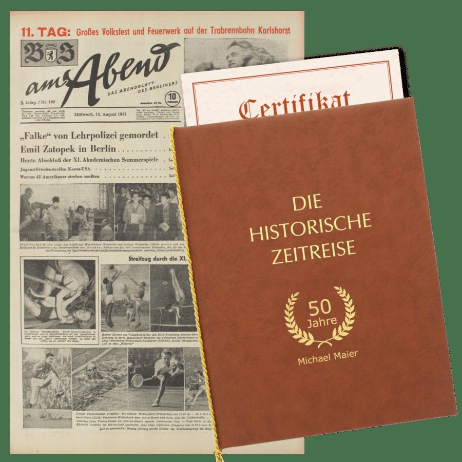 Alte Zeitungen - Geschenk für Opas Geburtstag