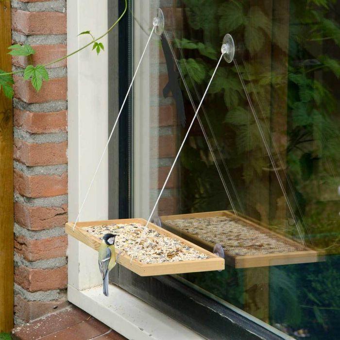 Fenster-Futterhaus - Geschenk für Opa