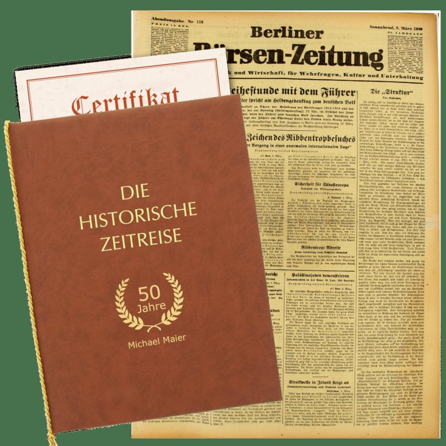 Geschenk für Opas Geburtstag - Historische Zeitung