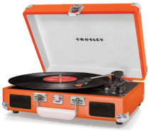 Plattenspieler crosley orange