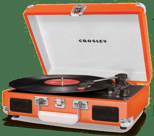 Plattenspieler crosley orange