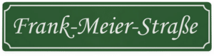 Strassennamenschild mit Namen