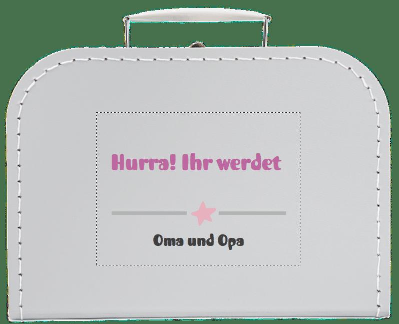 Geschenk für werdende Großeltern - Kinderkoffer mit Namen