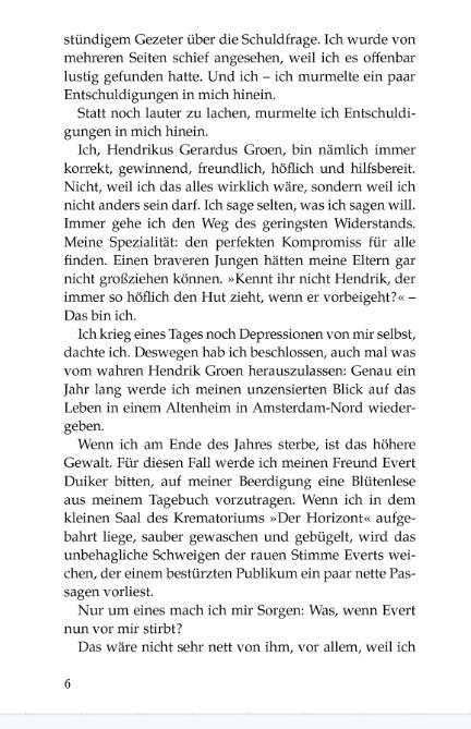 Buch fur Opa pag2, tagebuch Hendrik Groen, 83 Jahre