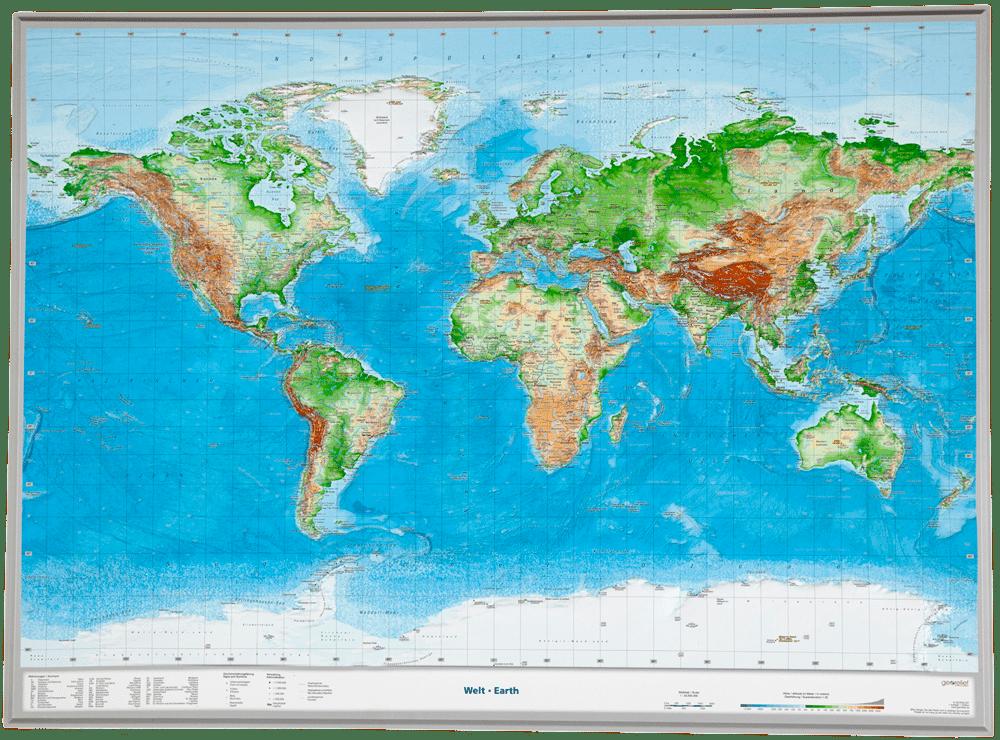 3D-Weltkarte