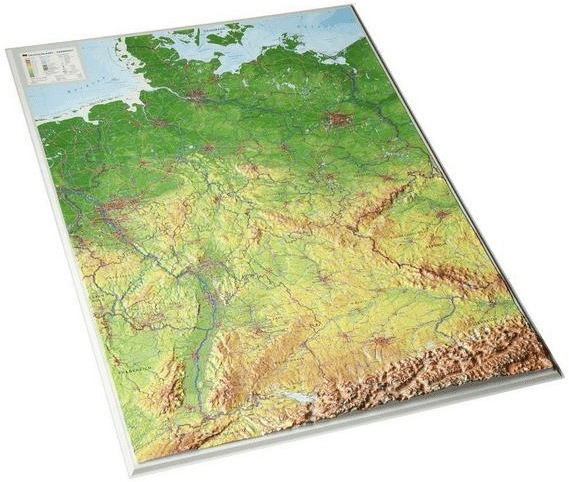 Reliefkarte Deutschland - Geschenk für Opa