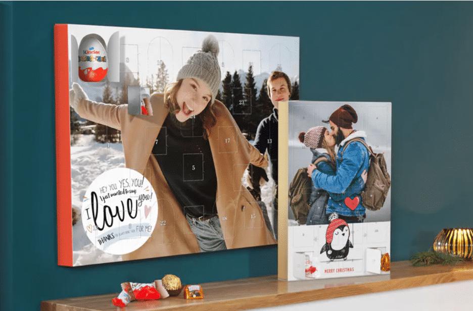 Adventskalender mit Foto und Schokolade für Opa