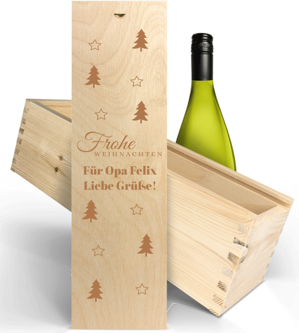 Geschenke zu Weihnachten für Opa - personalisierter Wein