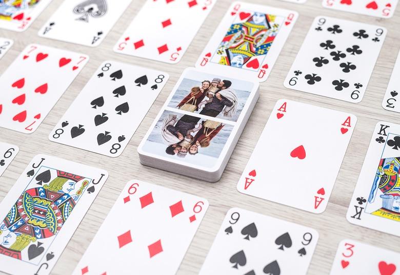 spielkarten eigenen fotos