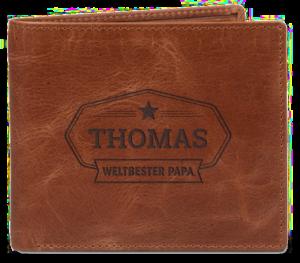 portemonnaie mit gravur - Vatertagsgeschenk für Opa