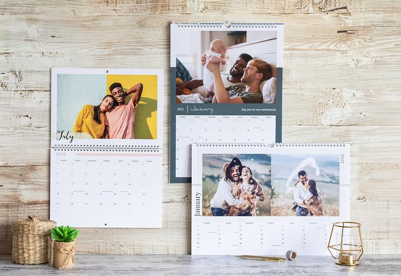Geschenk für Opa und Oma - Kalender mit eigenen Fotos