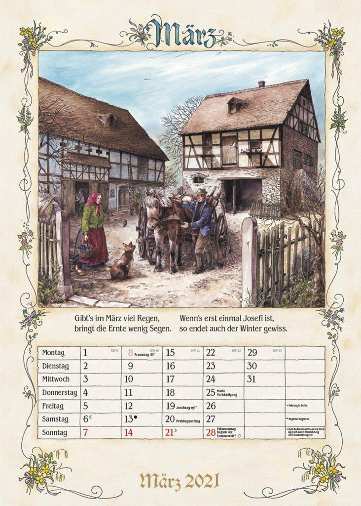 Kalender für Opa-Bauernkalender