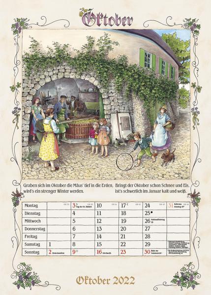 Kalender für einen älteren Mann - Bauernkalender