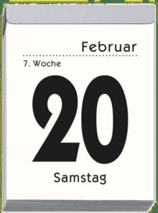 Tagesabreißkalender XL - Großdruck