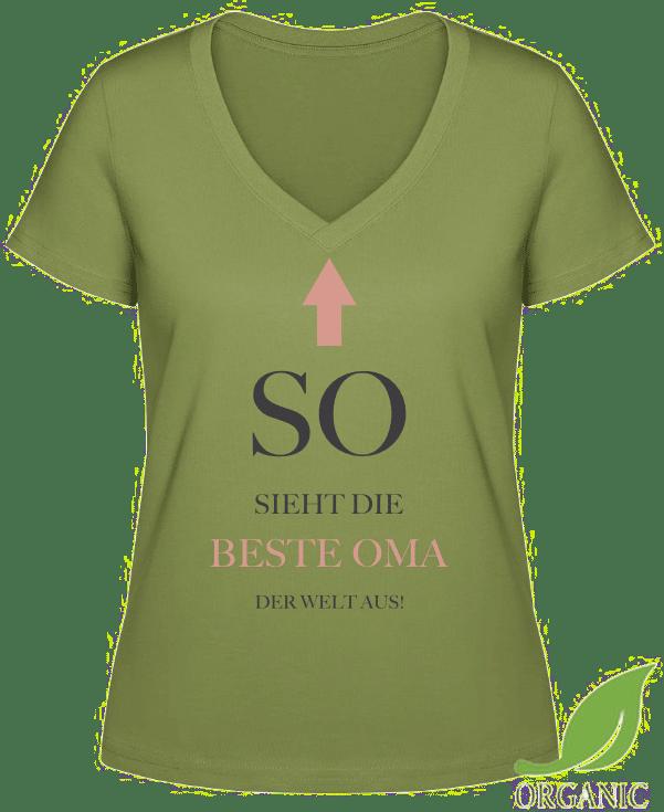 Geschenkidee für Oma - modisches T-Shirt Beste Oma der Welt