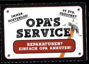 Schild Opas Werkstatt
