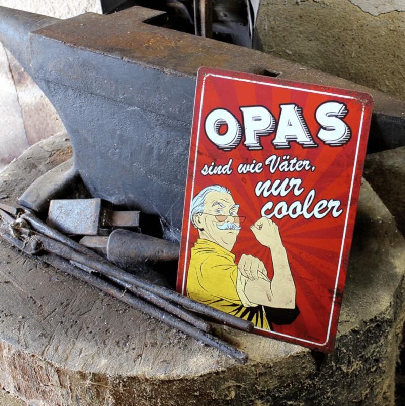 Metallschild Retro - originelles Geschenk für Opa