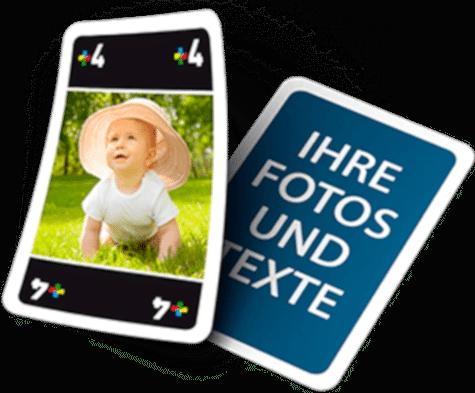 Mau-Mau Spiel Meino mit eigenen Fotos - Geschenk für Opa