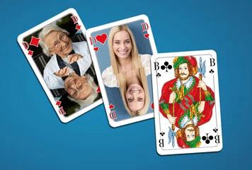 Spielkarten mit eigenen Fotos - originelle Geschenkidee für Opa