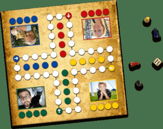 originelle Geschenkidee für Opa - Brettspiel selbst gestalten mit Fotos