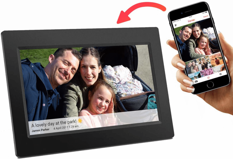 Geschenk für Senioren - Digitale Fotorahmen wifi wlan