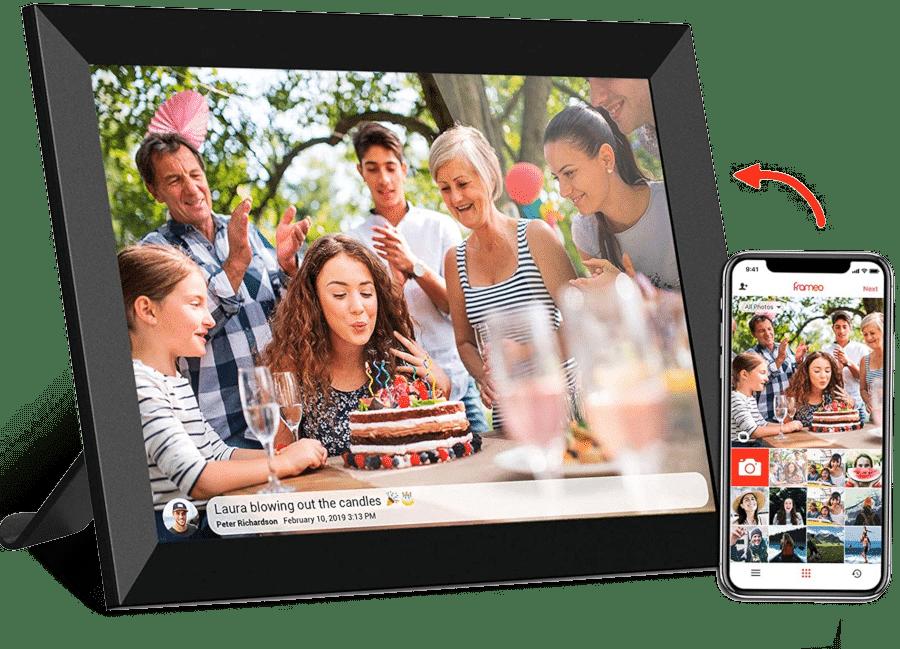 Geschenk für Senioren - Wifi Digitaler Bilderrahmen