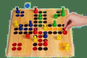 Brettspiel Ludo XL - Geschenk Opa 90 Jahren