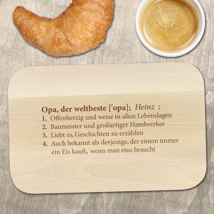 Weltbeste Opa - Frühstücksbrett mit Gravur