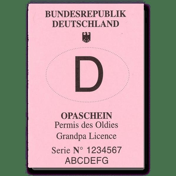 Opaschein - originelle Geschenke für Opa