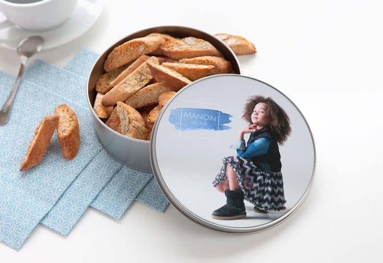 Geschenk mit Foto für Großeltern - Keksdose