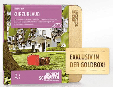 Erlebnis Geschenkbox Jochen Schweitzer - für zwei