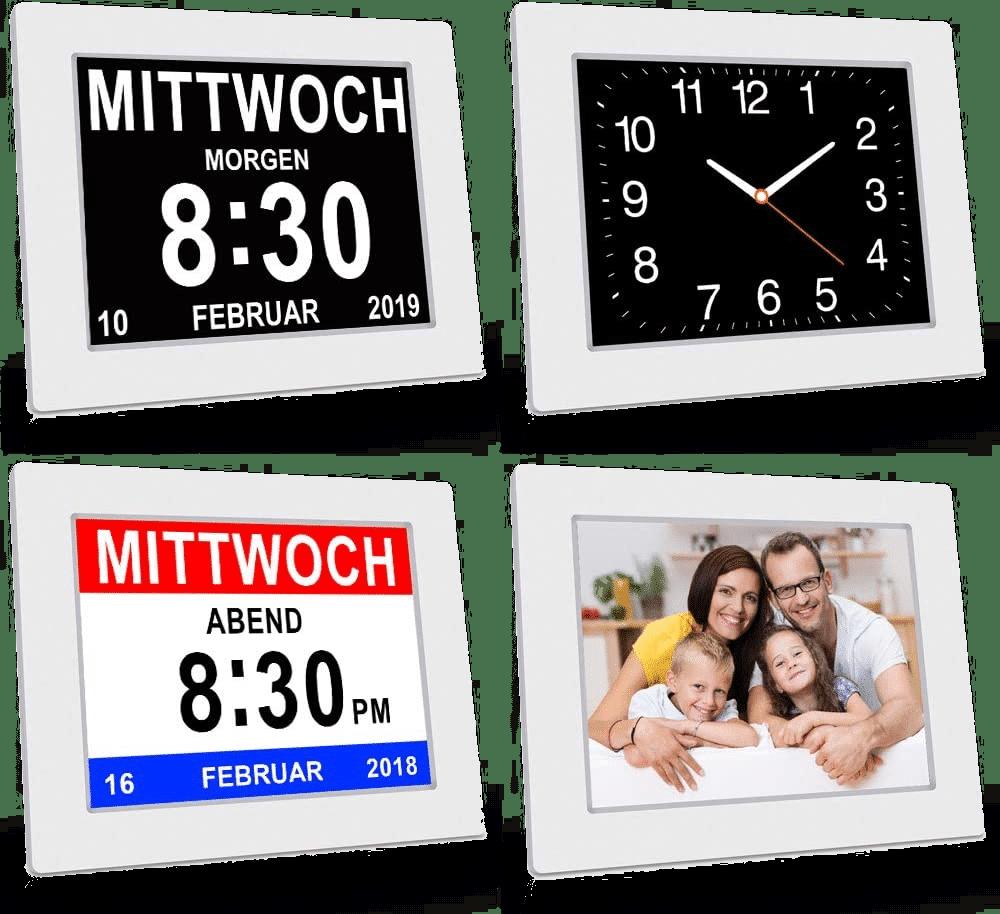 Digitale Kalenderuhr für ältere Menschen