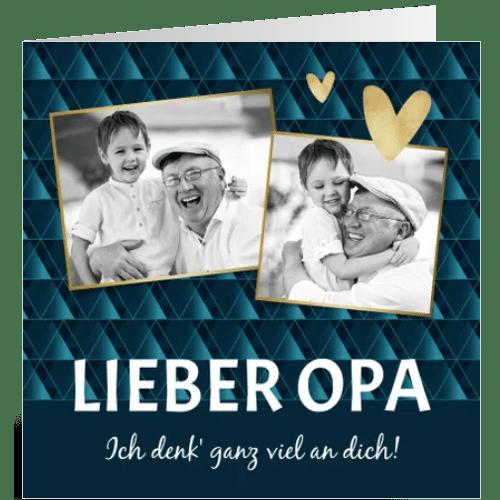 Grußkarten versenden - Fotokarte Opa