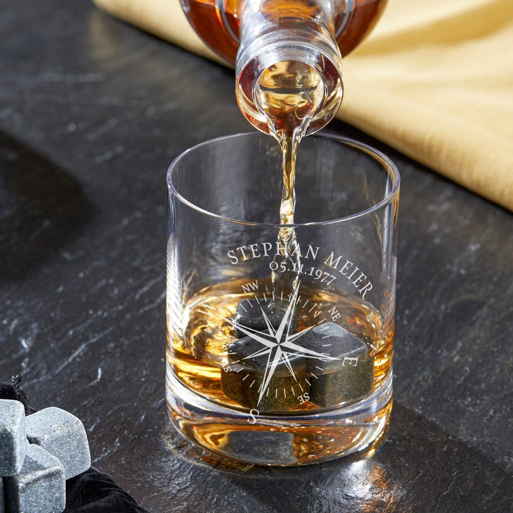 persönliches Geschenk für Opa - Whiskyglas mit Gravur